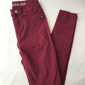 Vanilla Star Skinny Red Jeans